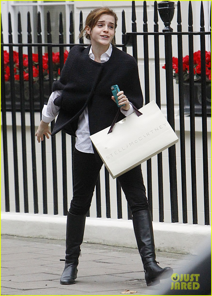 emma watson goes shopping at stella mccartney in london 03