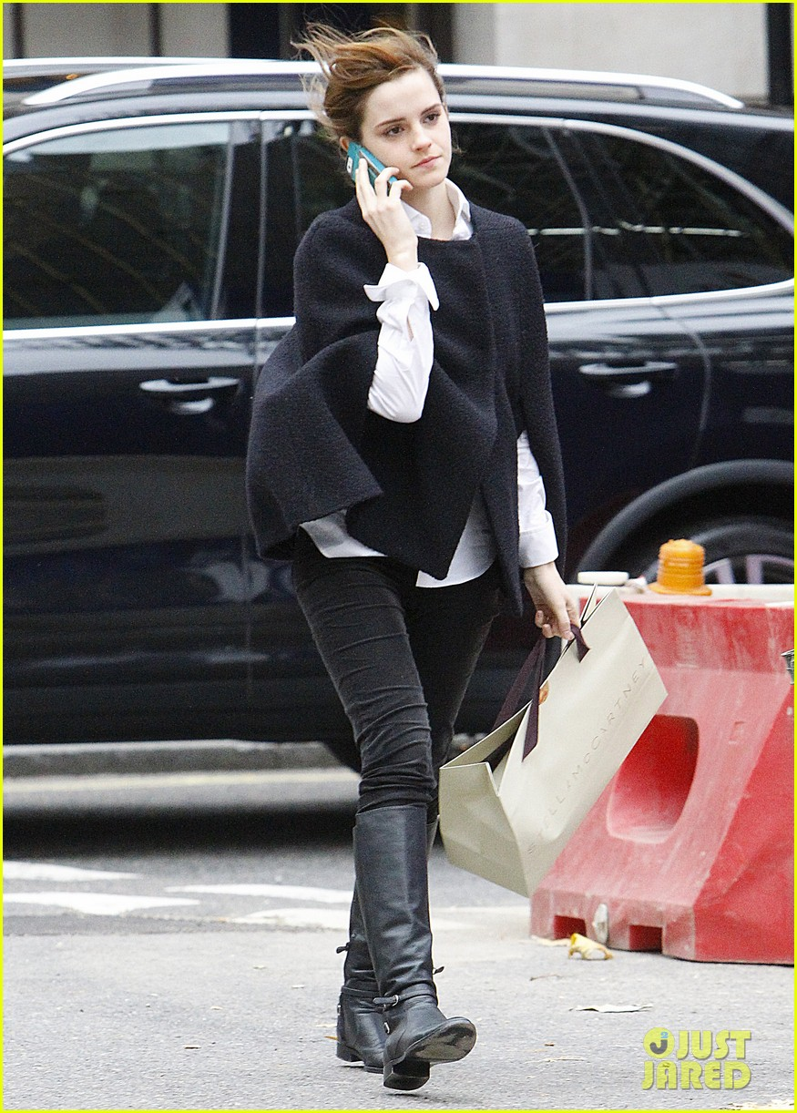 emma watson goes shopping at stella mccartney in london 04