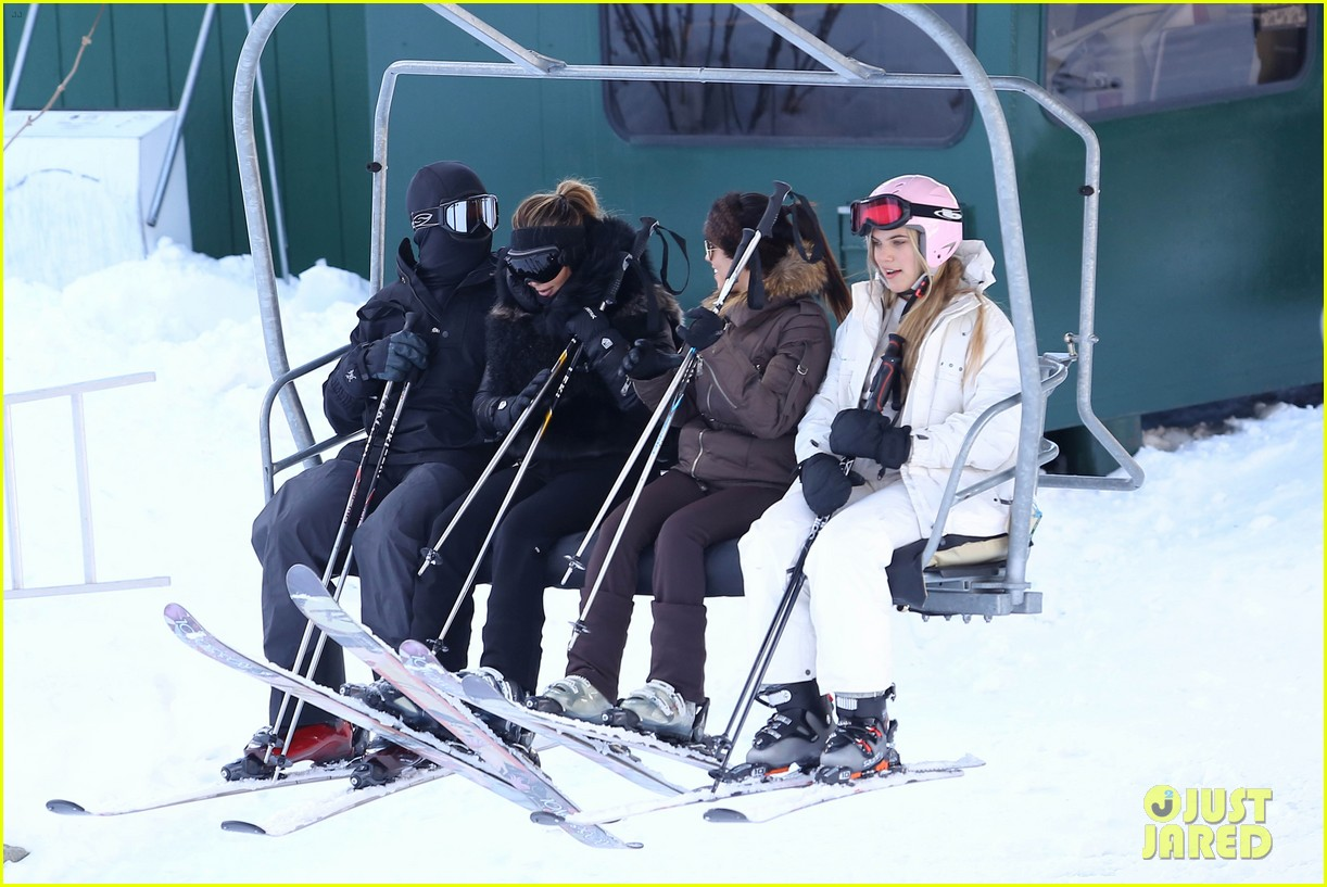 kanye west wears full face mask for skiing with kim kardashian 053019953