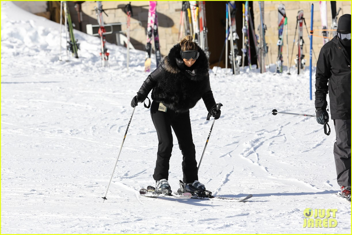 kanye west wears full face mask for skiing with kim kardashian 24
