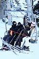 kanye west wears full face mask for skiing with kim kardashian 17
