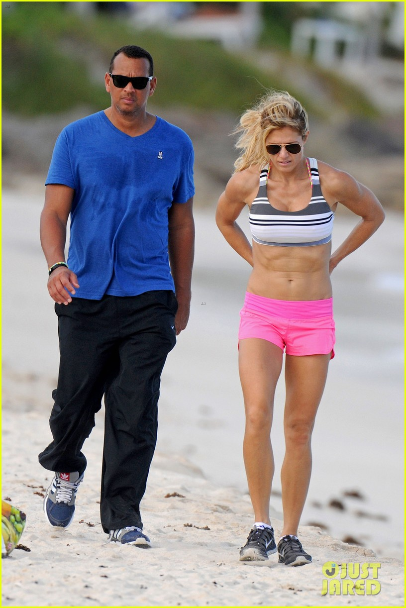alex roriguez beach stroll with ab boasting torrie wilson 053021027