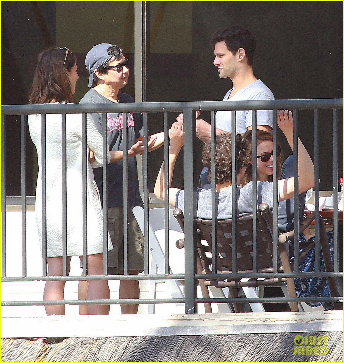 justin bartha new wife lia smith relax after wedding 20