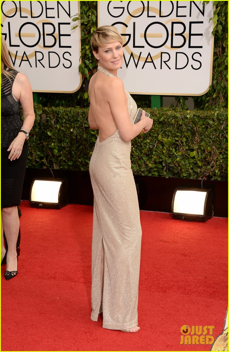 ben foster robin wright golden globes 2014 red carpet 033029198