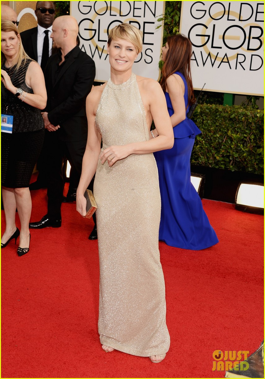 ben foster robin wright golden globes 2014 red carpet 05