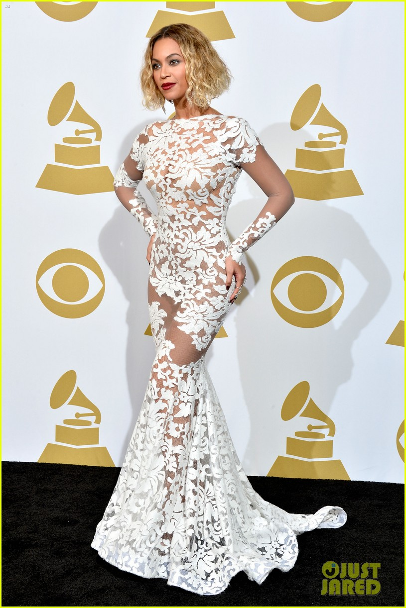 beyonce wears sexy sheer white dress at grammys 2014 143041410