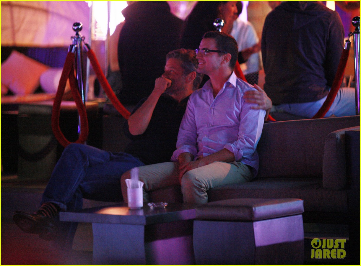 matt bomer cuddles simon halls at birthday celebration in cabo 153036381