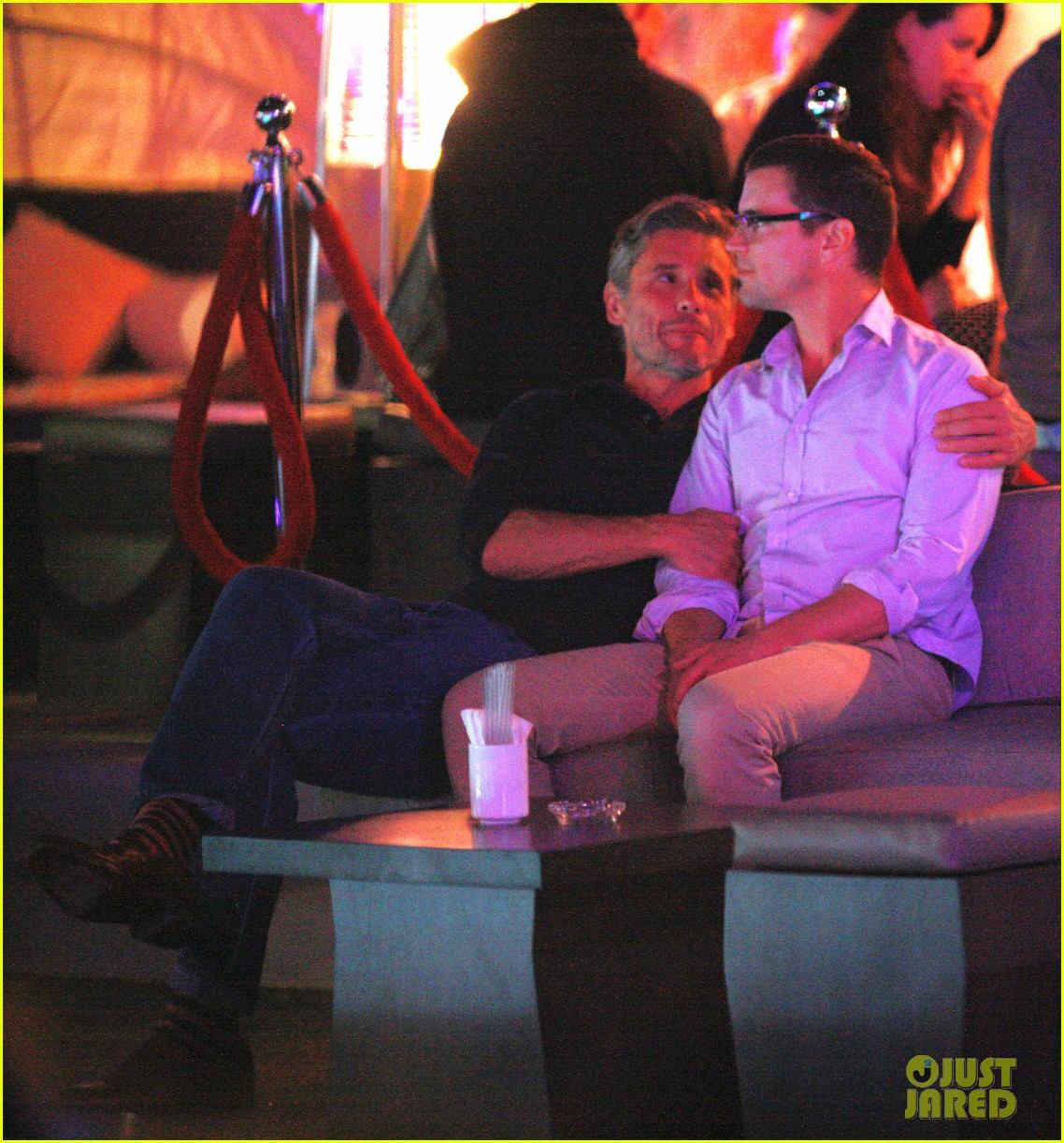 Full Sized Photo of matt bomer cuddles simon halls at ...