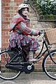 helena bonham carter bikes in the rain with son billy 08
