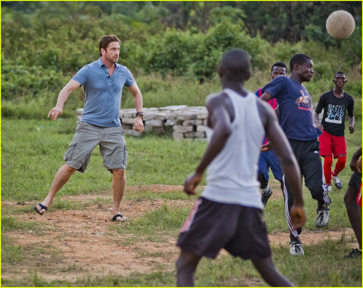 Full Sized Photo of gerard butler visits liberia with ... Gerard Butler From