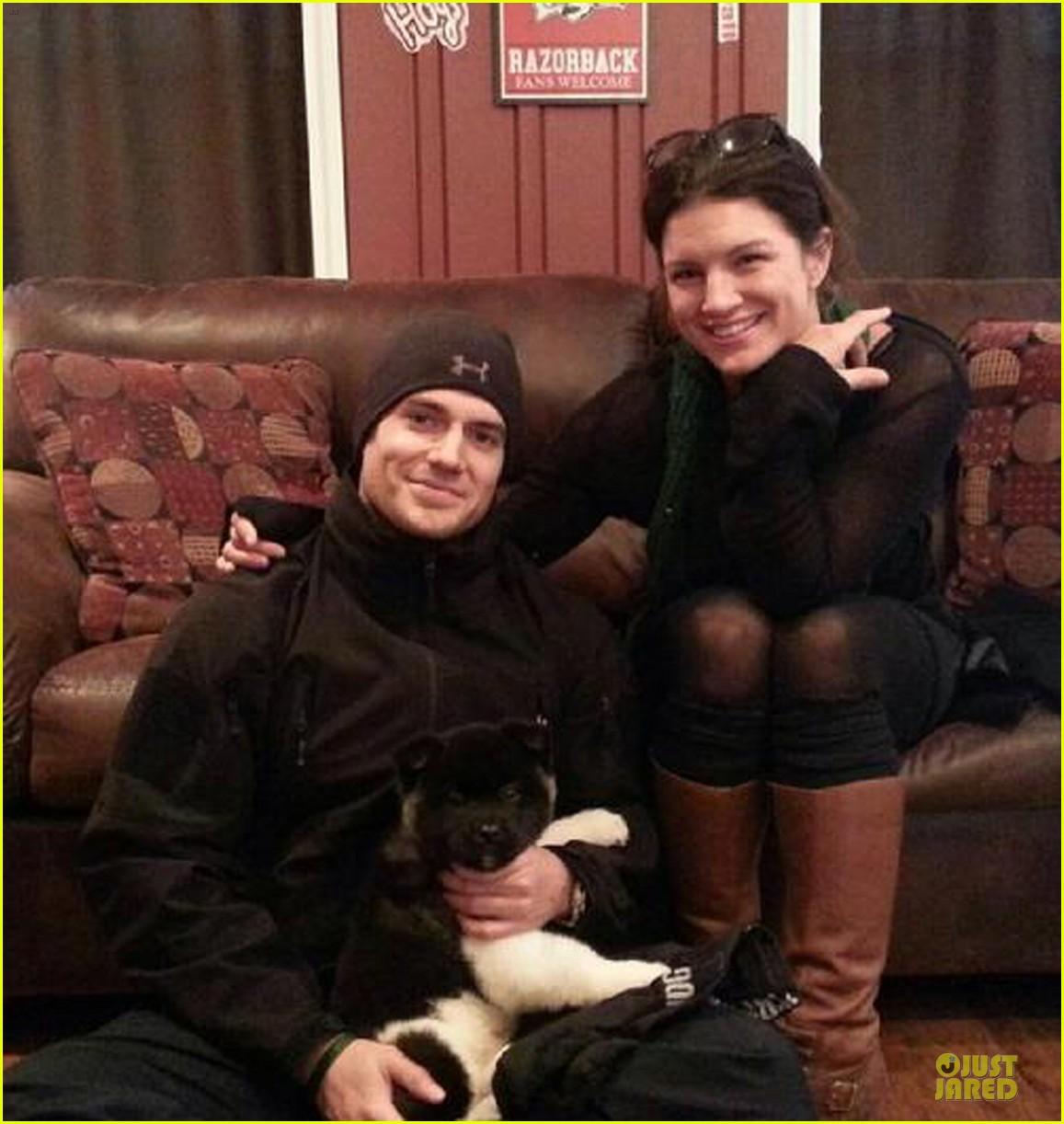 henry cavill gina carano adopt a puppy together 013027486