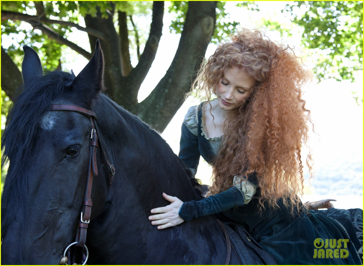 jessica chastain princess merida for disney dream portrai 05