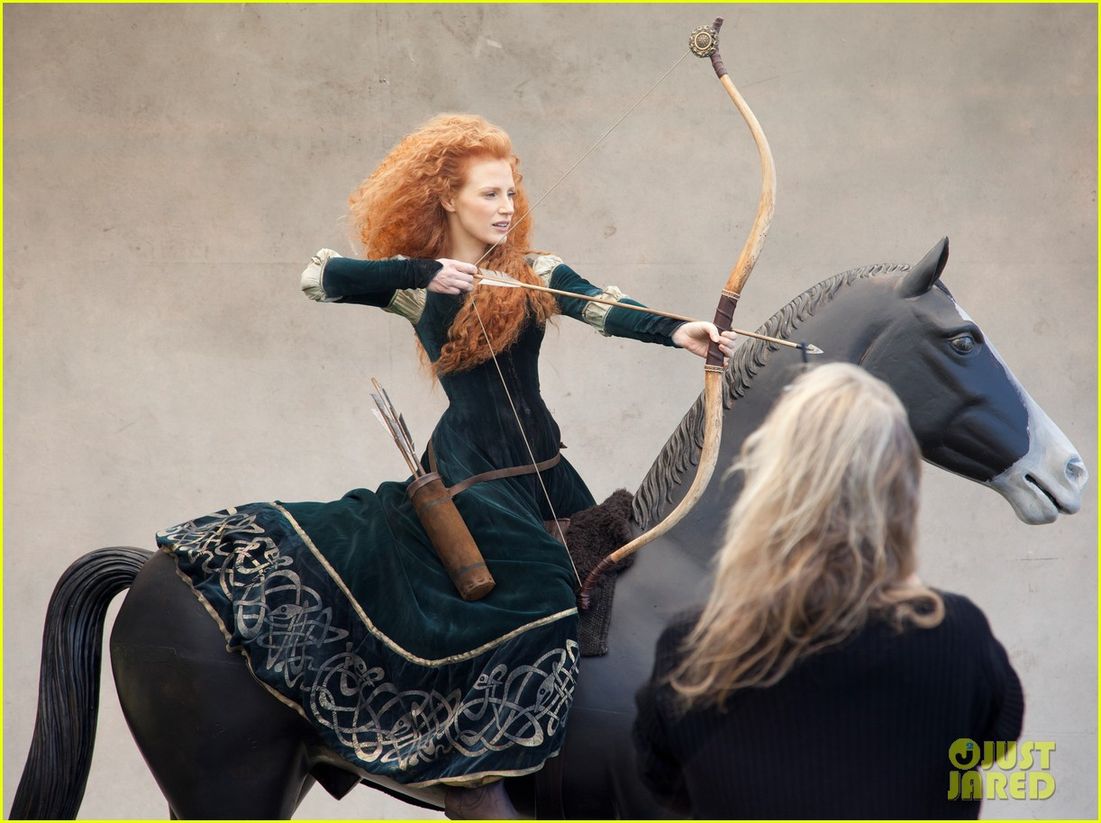jessica chastain princess merida for disney dream portrai 103026185