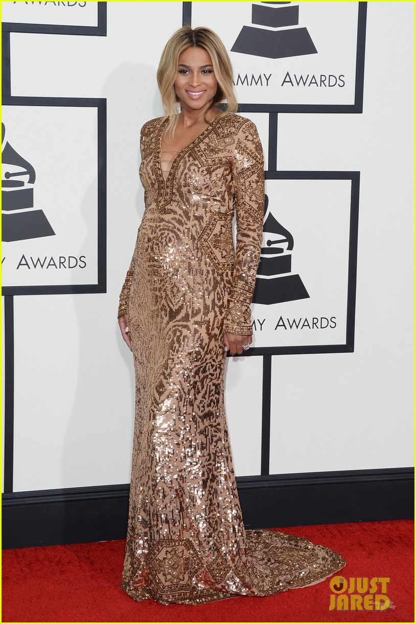 pregnant ciara grammys 2014 red carpet 01