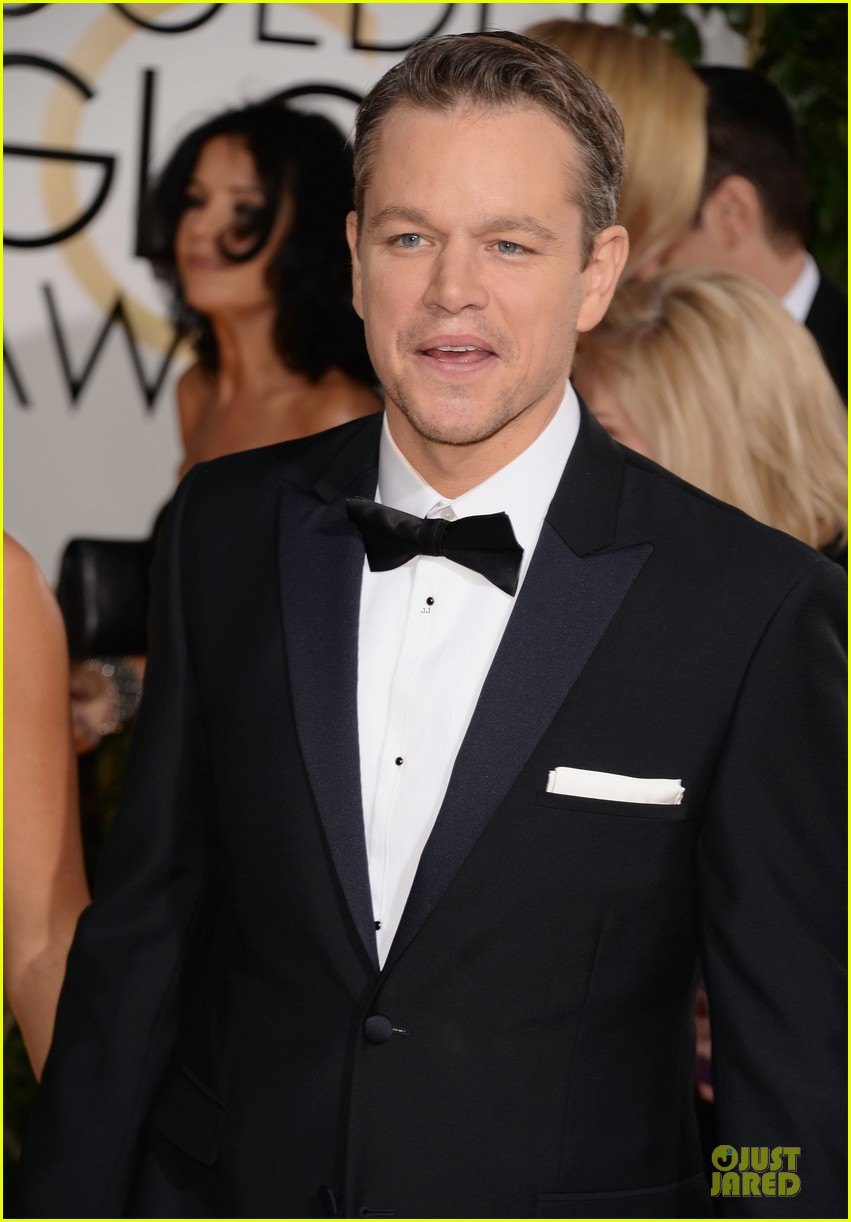 matt damon golden globes 2014 with wife luciana 043029480