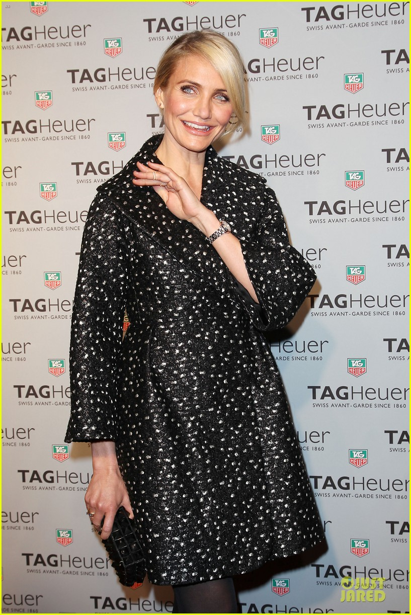 cameron diaz tag heuer ny flagship store opening 02