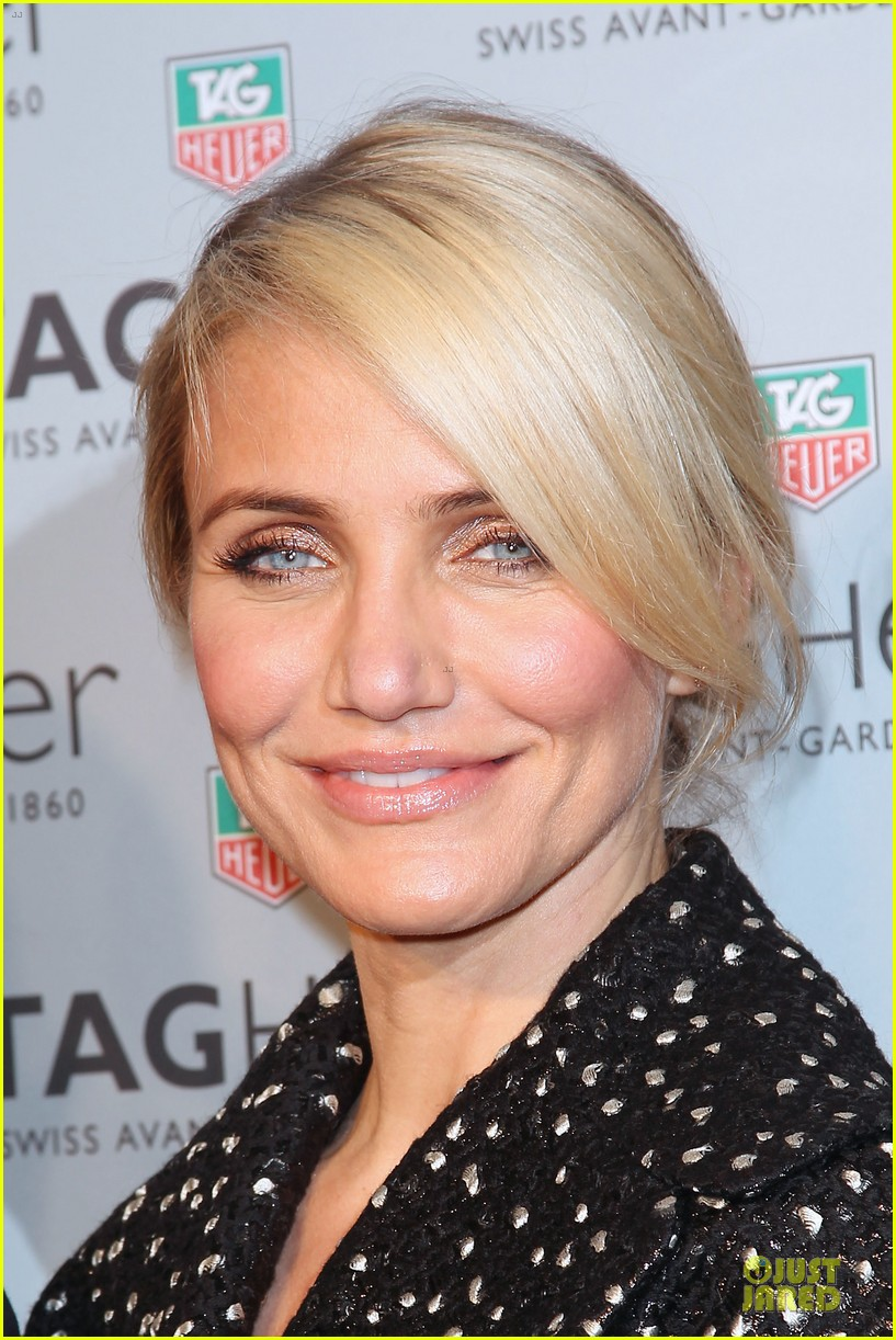 cameron diaz tag heuer ny flagship store opening 11