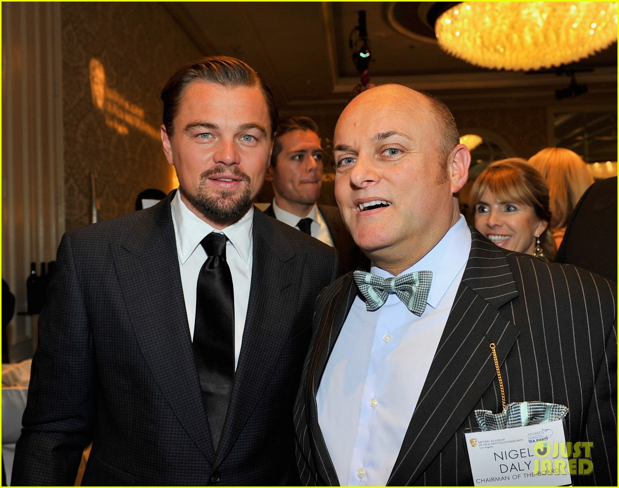 leonardo dicaprio daniel bruhl bafta tea party 2014 04