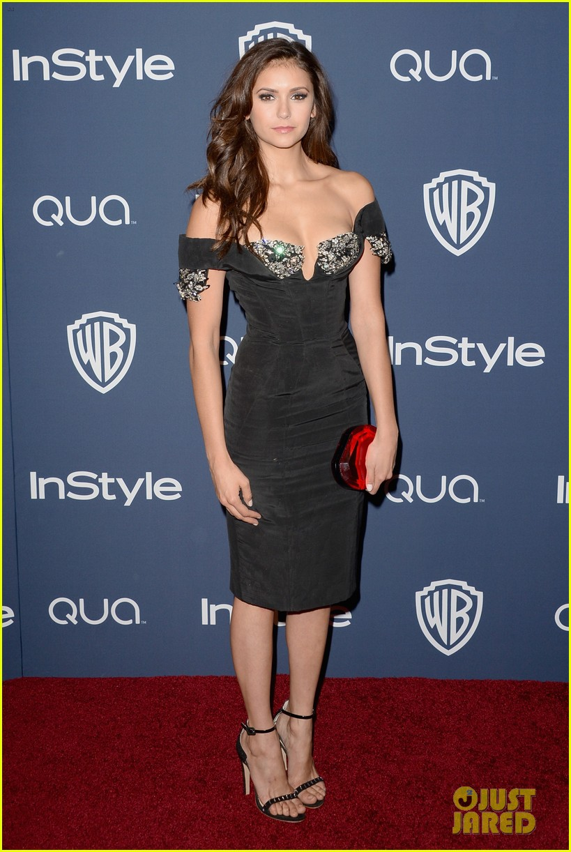 nina dobrev paul wesley instyle golden globes party 2014 013030052