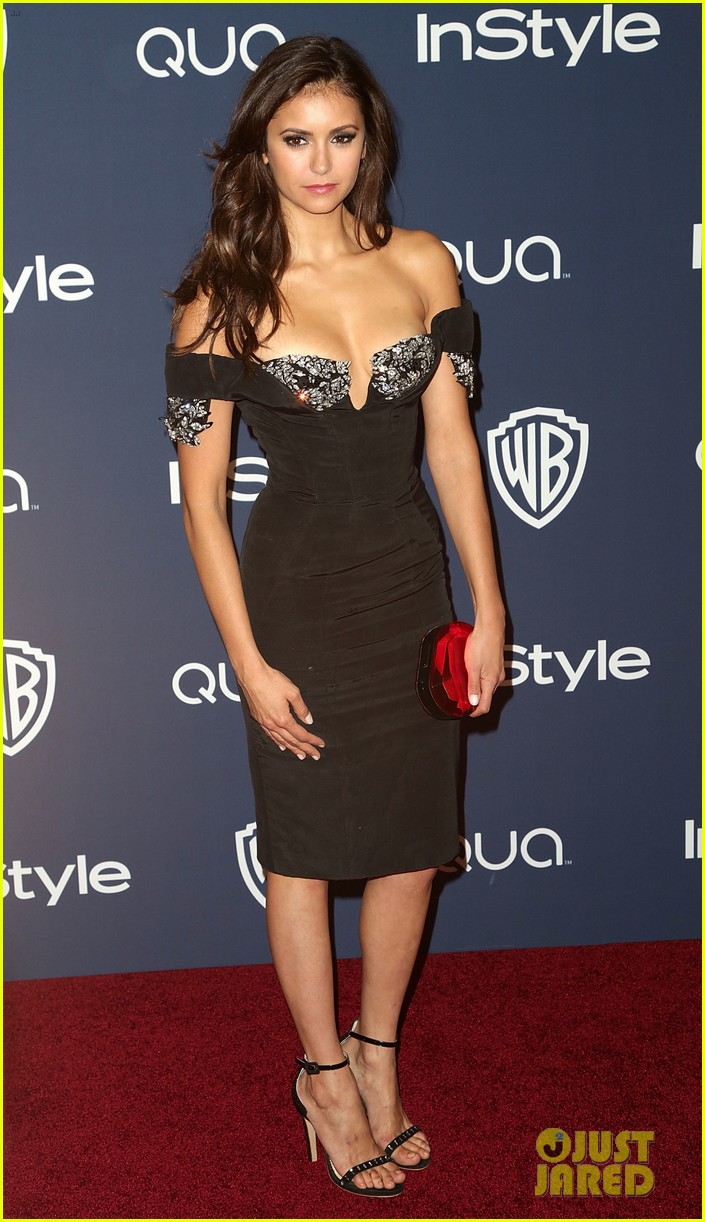 nina dobrev paul wesley instyle golden globes party 2014 16