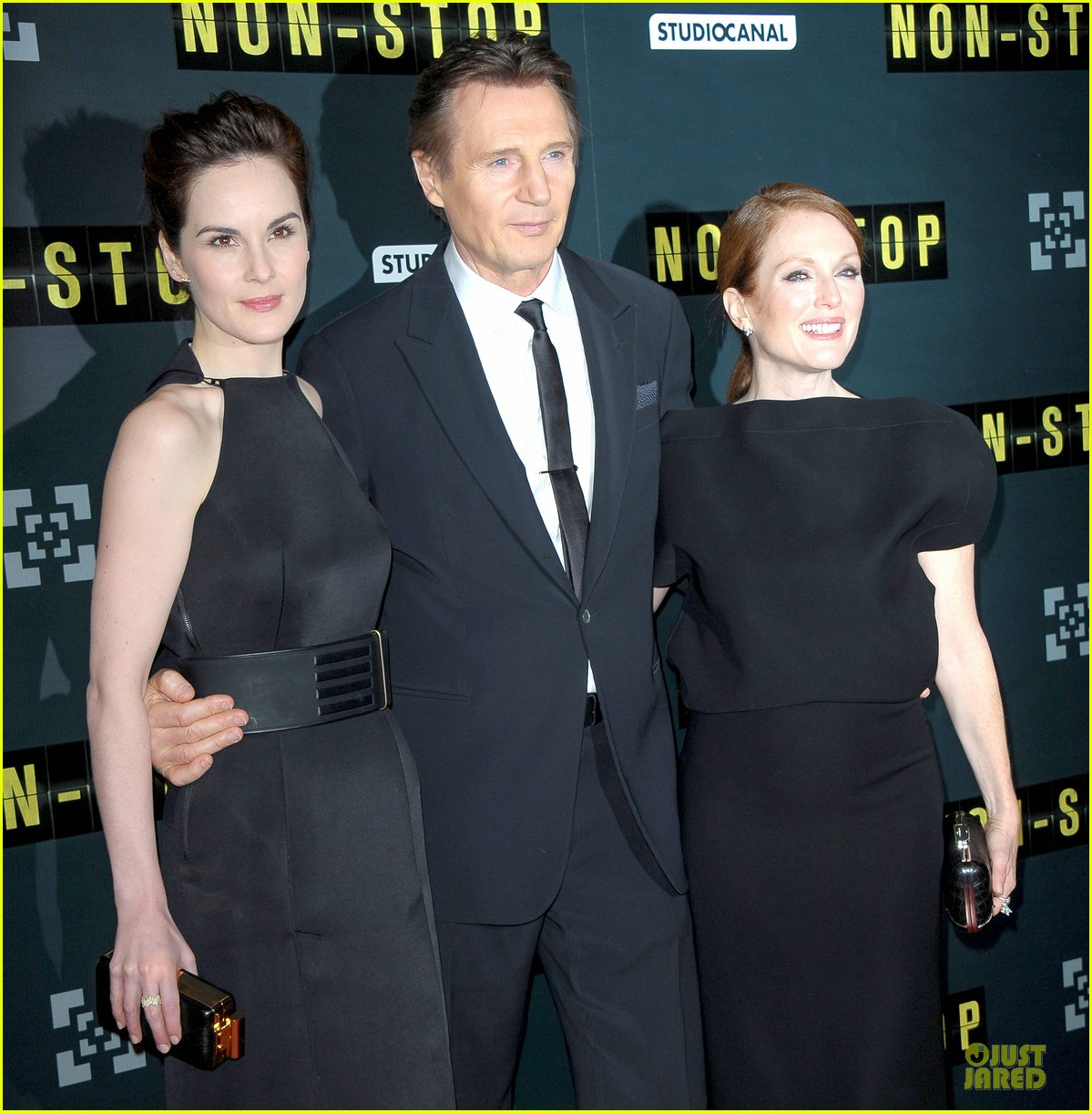 michelle dockery julianne moore non stop paris premiere 153042346