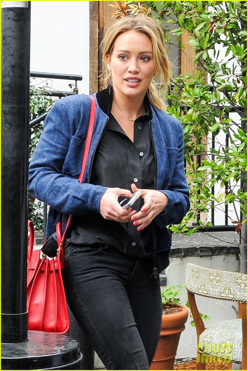 hilary duff solo cecconis lunch 08