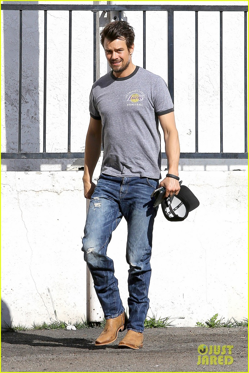josh duhamel back in la after teaming up with pedigree at sundance 01