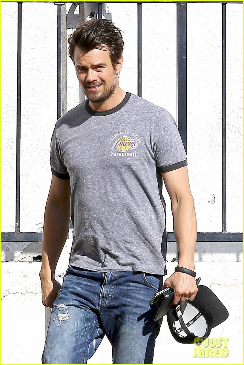 josh duhamel back in la after teaming up with pedigree at sundance 06