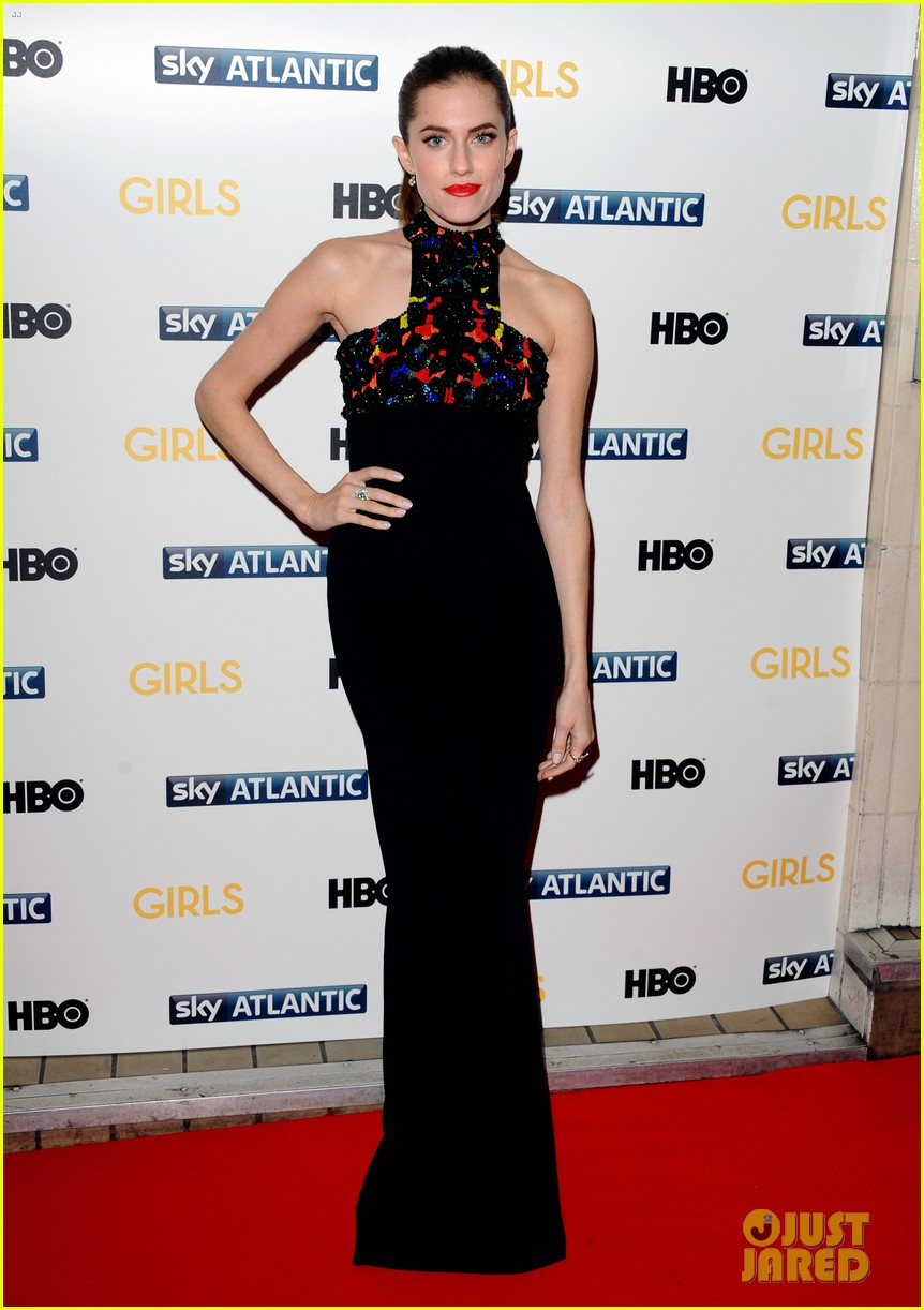 lena dunham allison williams girls season 3 uk premiere 05