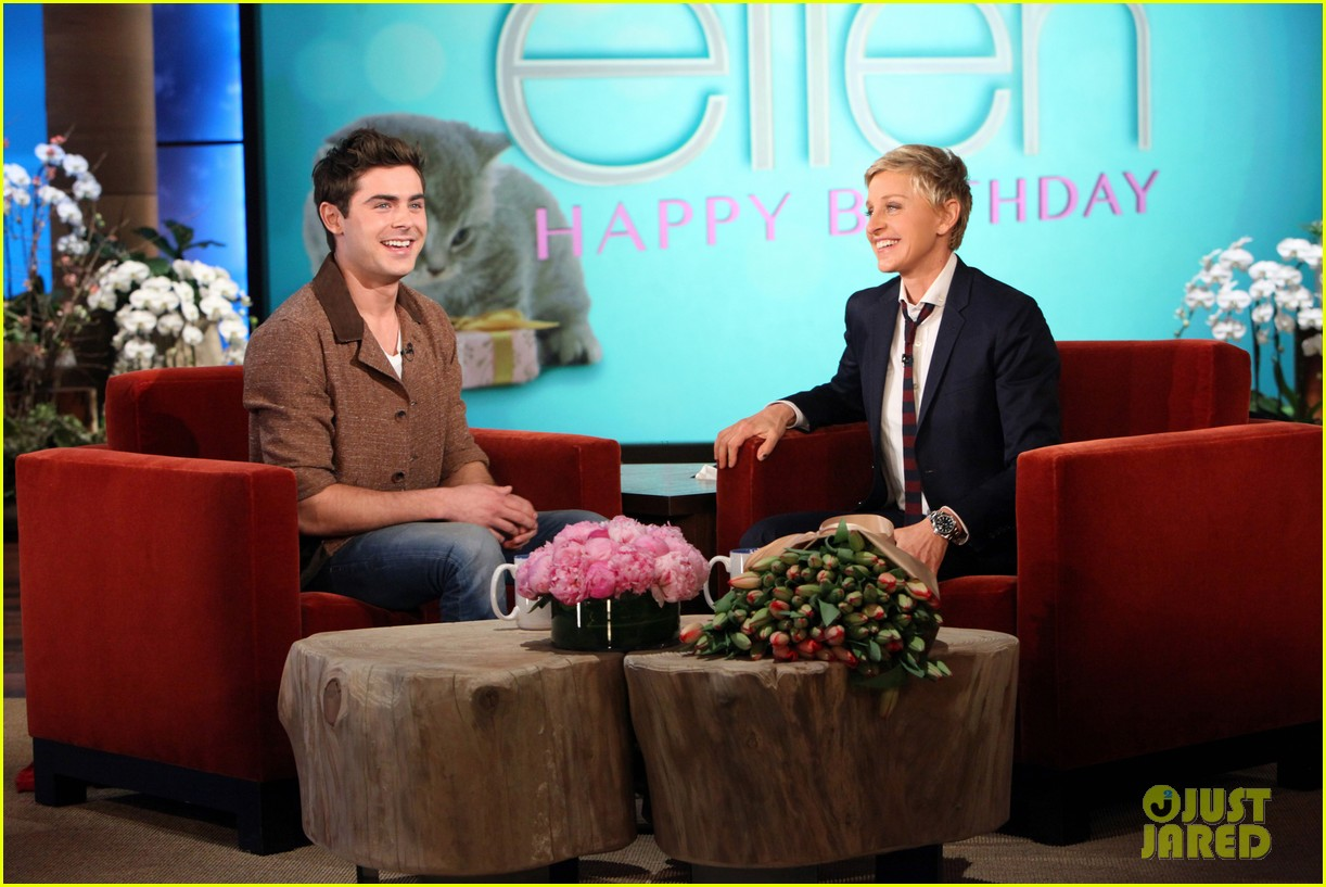 zac efron sings plays guitar for ellen degeneres birthday watch now 053044314