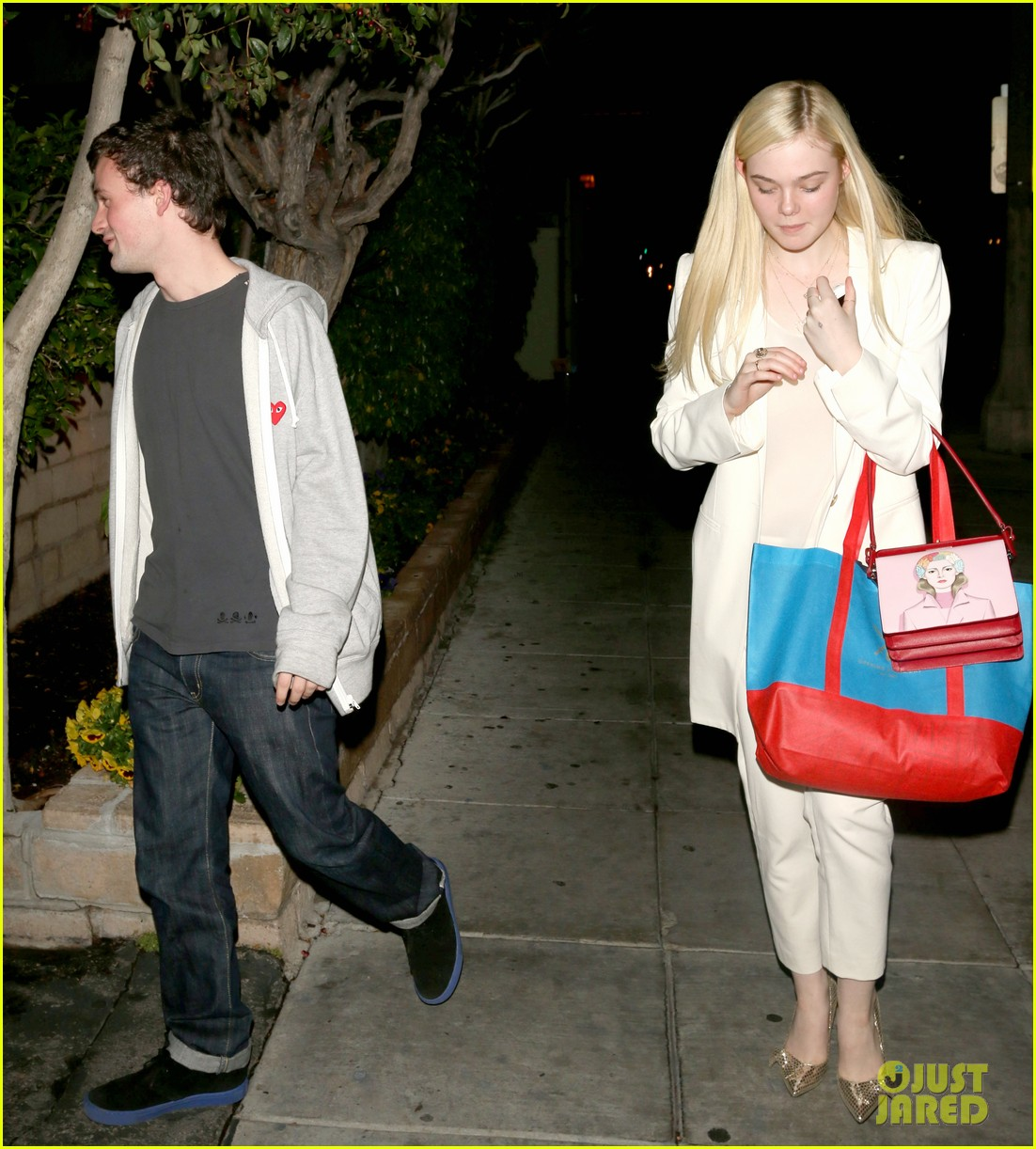 elle fanning matsuhisa dinner date with male friend 133042217