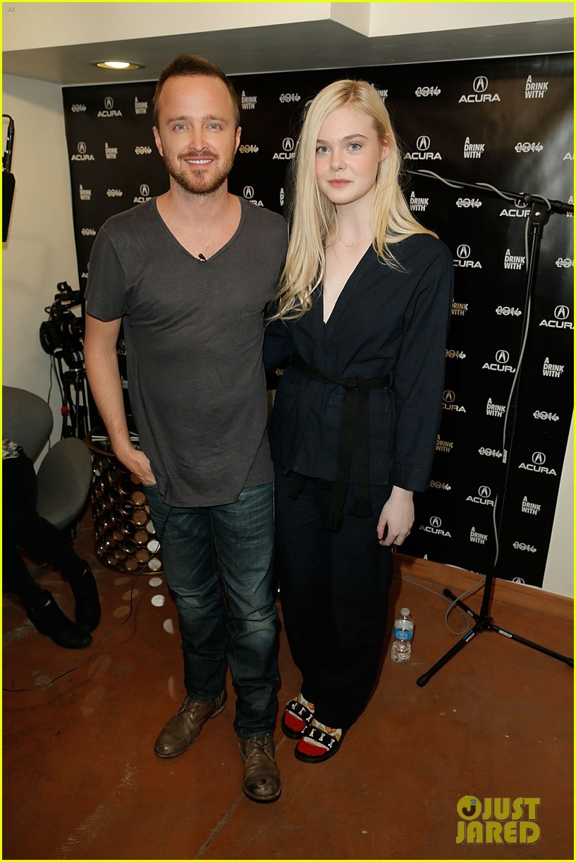 elle fanning aaron paul meet up at varietys sundance studio 033036616