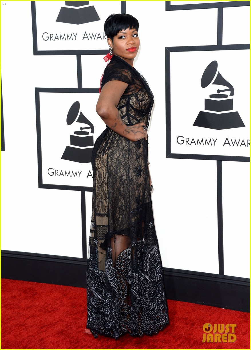 fantasia barrino grammys 2014 red carpet 053040880