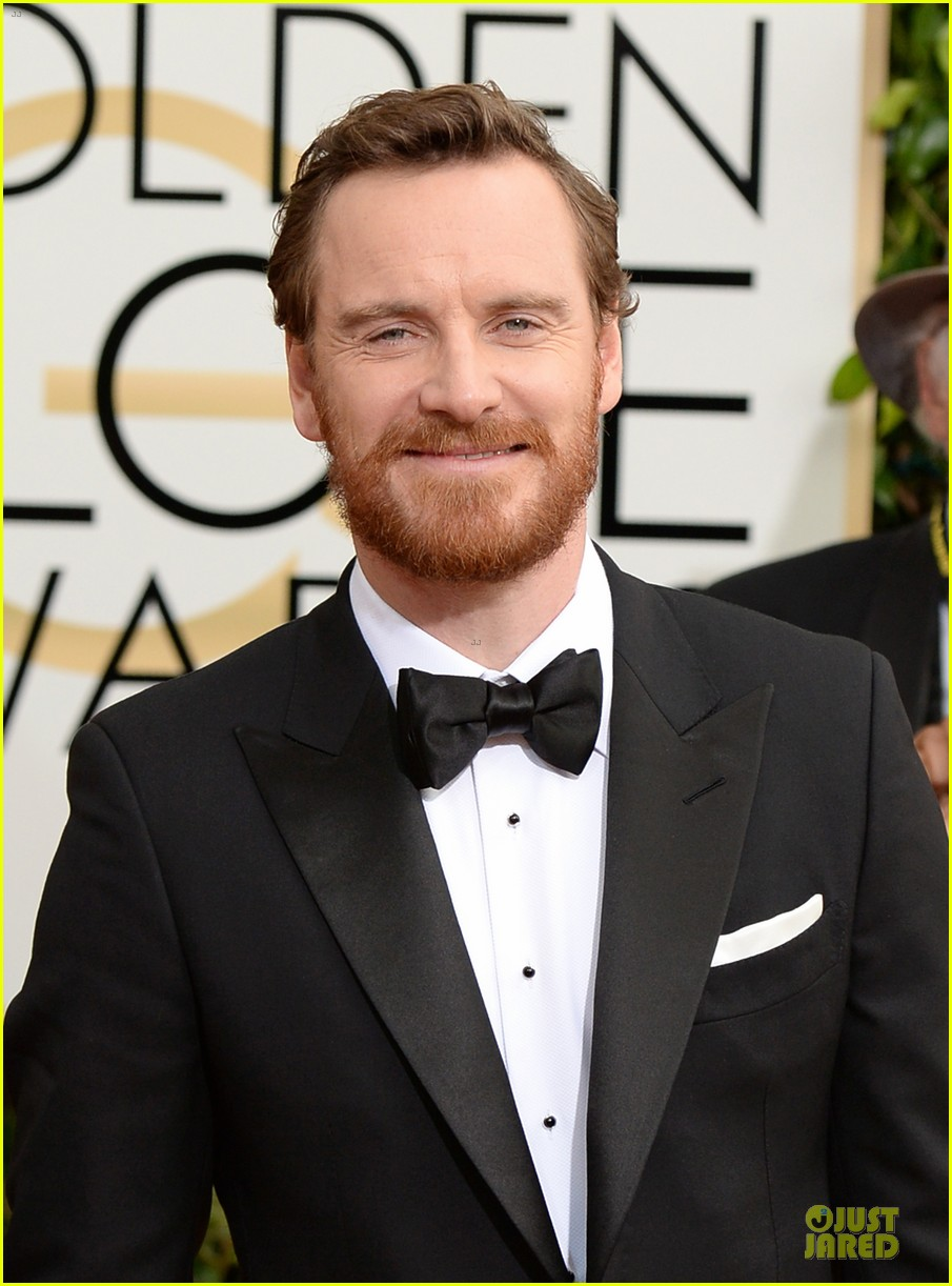 michael fassbender golden globes 2014 red carpet 113029216
