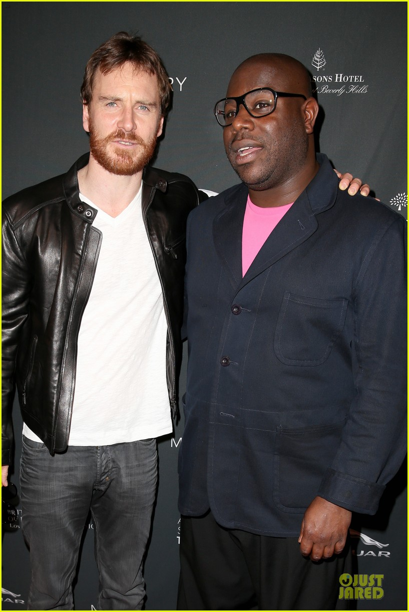 michael fassbender chiwetel ejiofor bafta tea party 2014 02