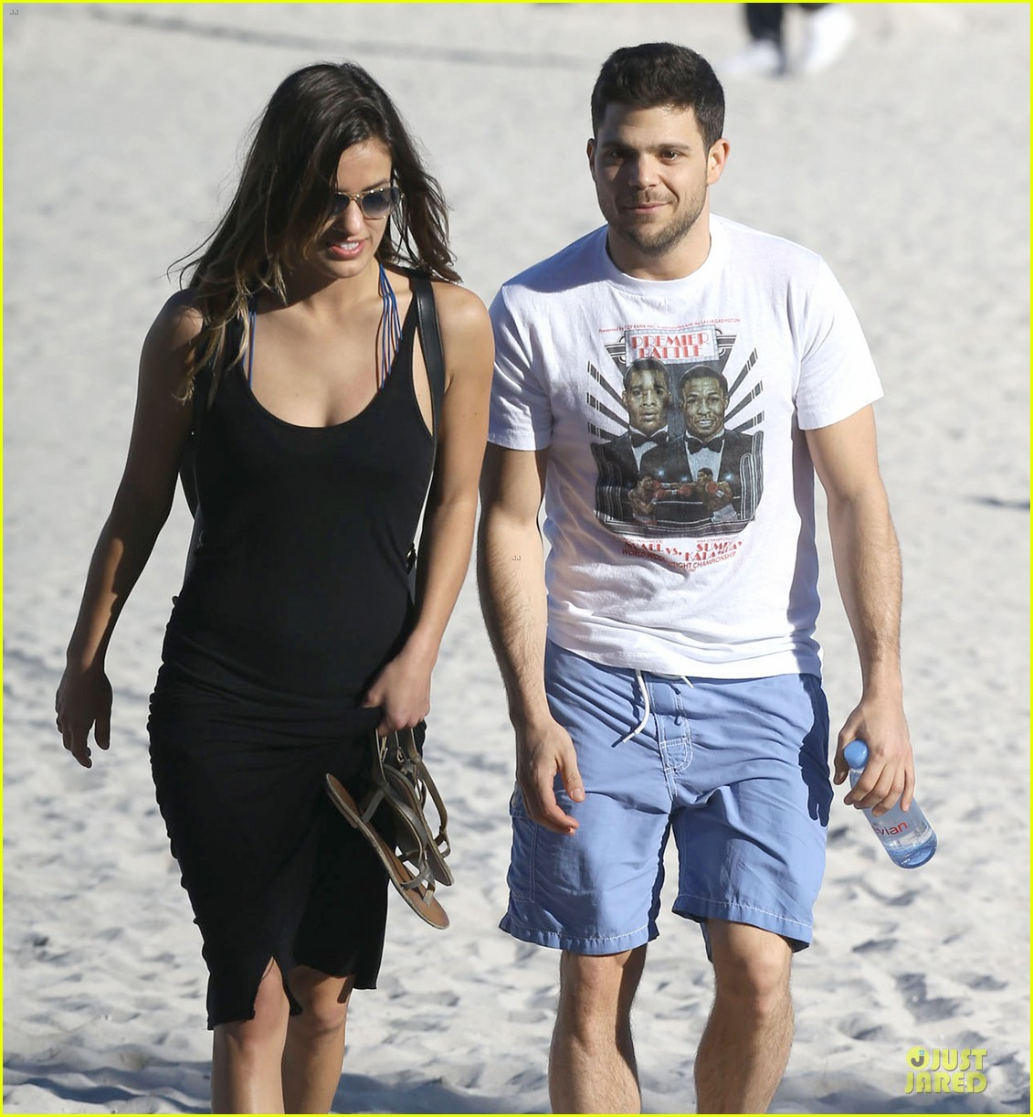 jerry ferrara shirtless miami beach lounging with girlfriend 16