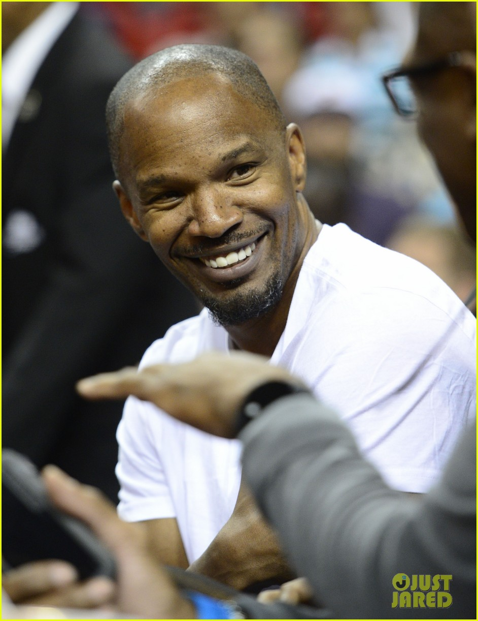 jamie foxx courtside at miami heat game 07