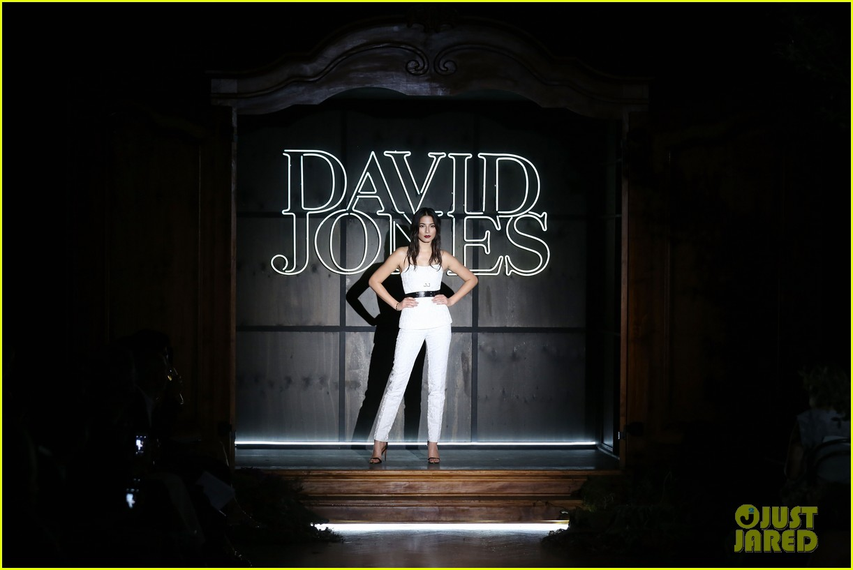 jessica gomes hits the runway for david jones collection launch 10