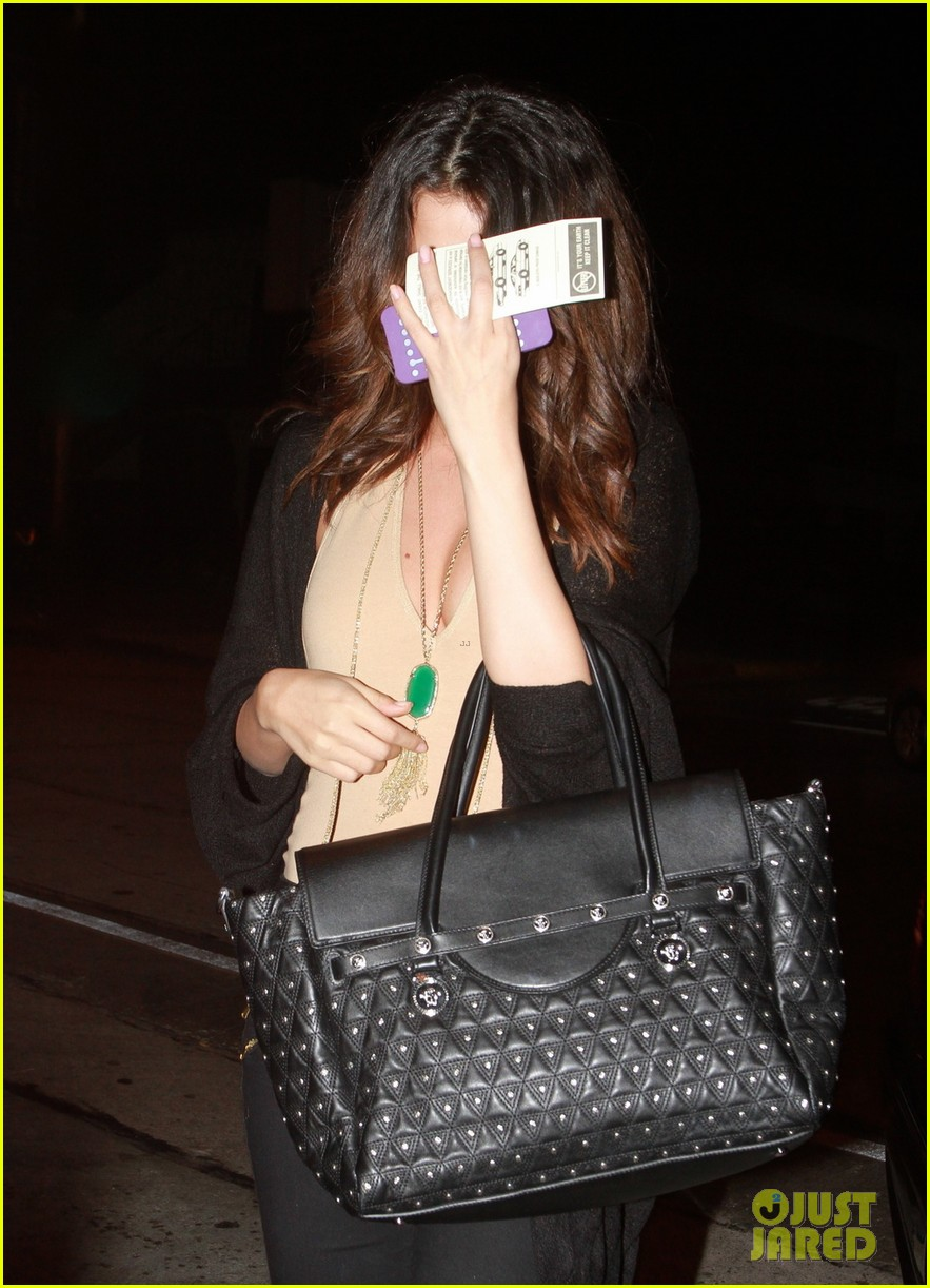 selena gomez grabs dinner wtih pink haired demi lovato 093039057