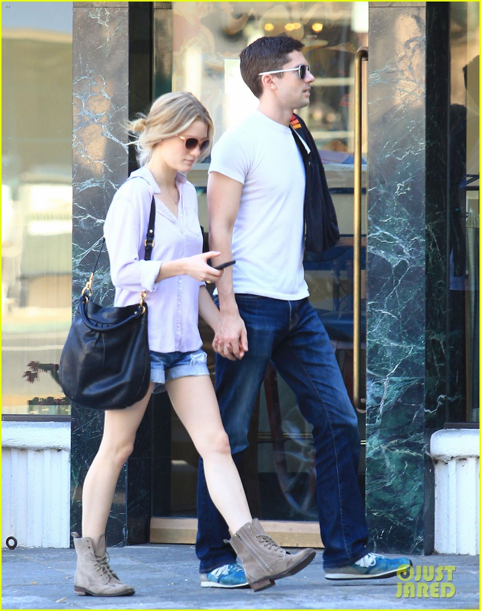 Topher Grace with Girlfriend Ashley Hinshaw