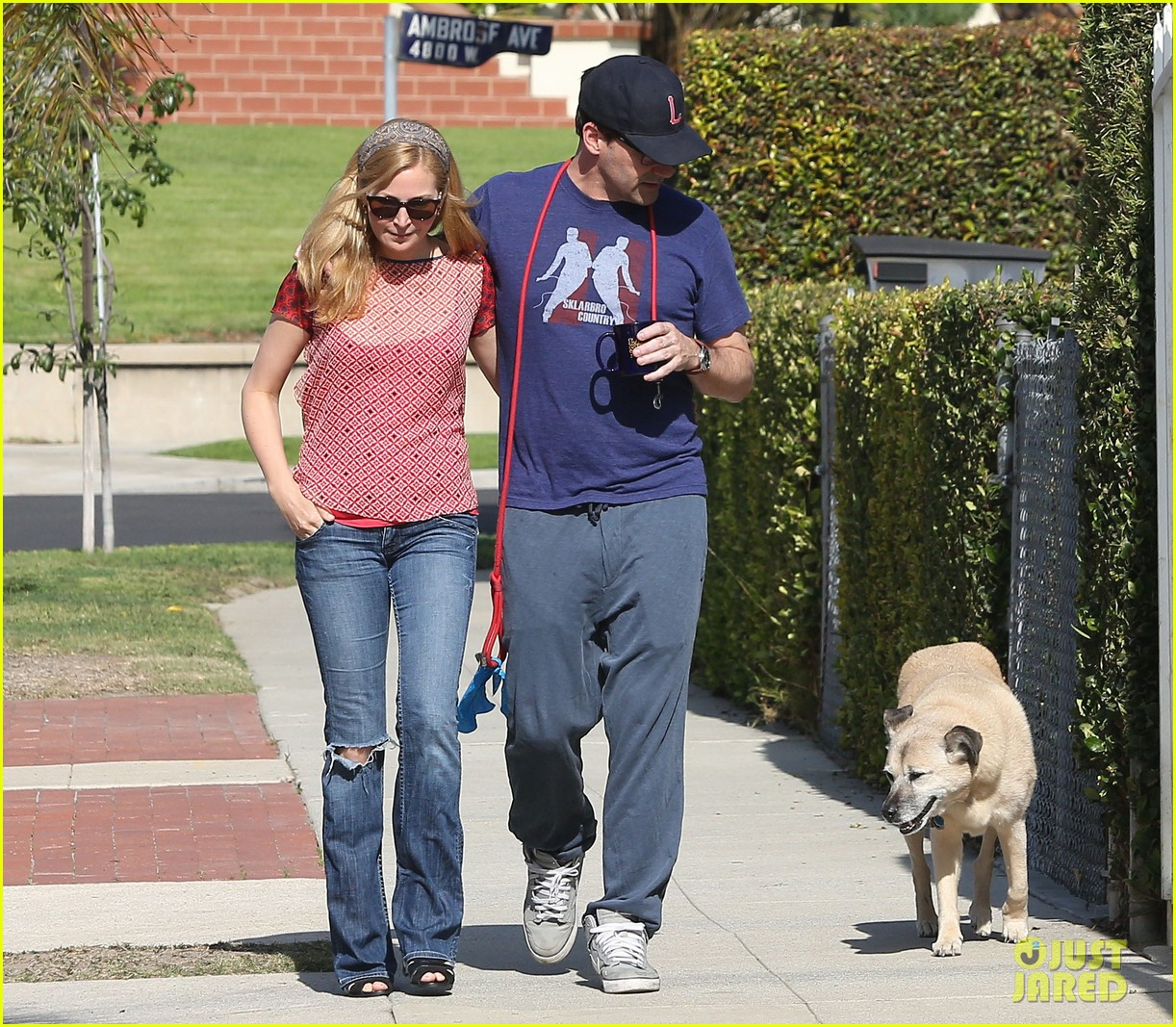 jon hamm stays comfy in sweatpants for morning dog walk 093038627