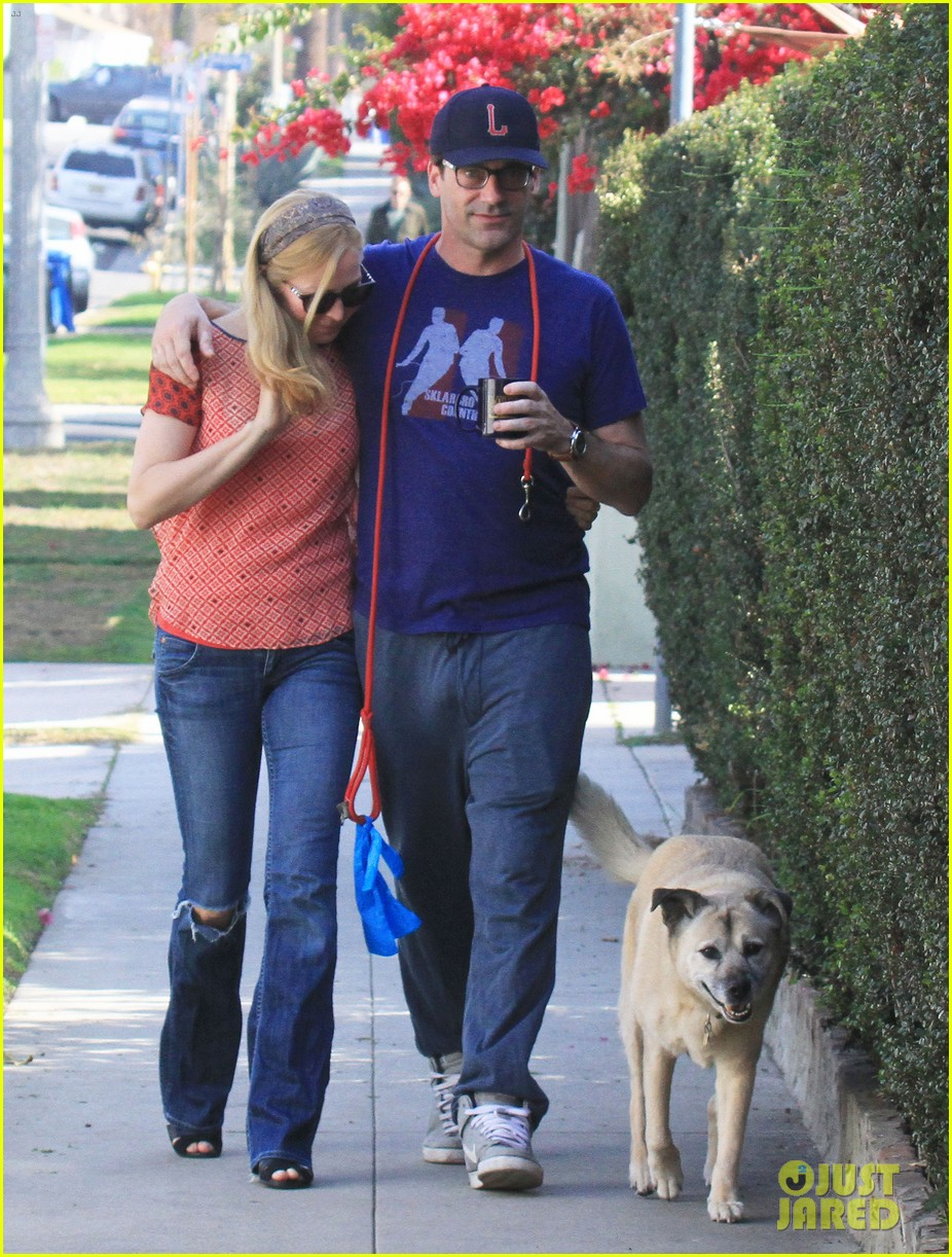 jon hamm stays comfy in sweatpants for morning dog walk 24