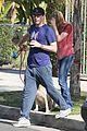 jon hamm stays comfy in sweatpants for morning dog walk 11