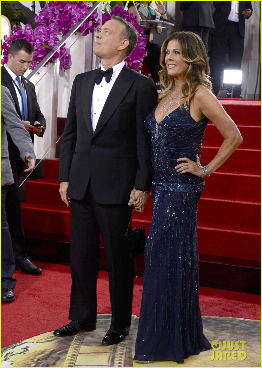 Tom Hanks Amp Rita Wilson Golden Globes 2014 Red Carpet