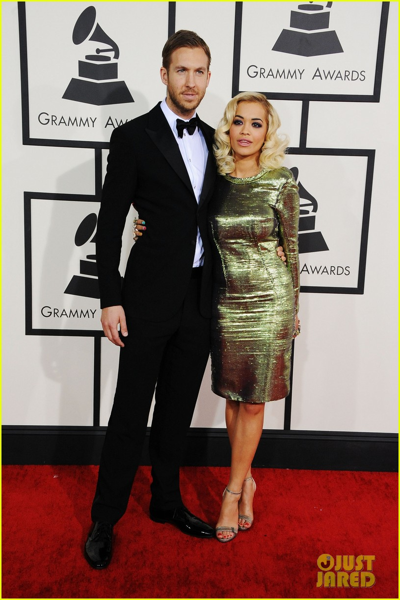 calvin harris grammys 2014 with rita ora 013041614