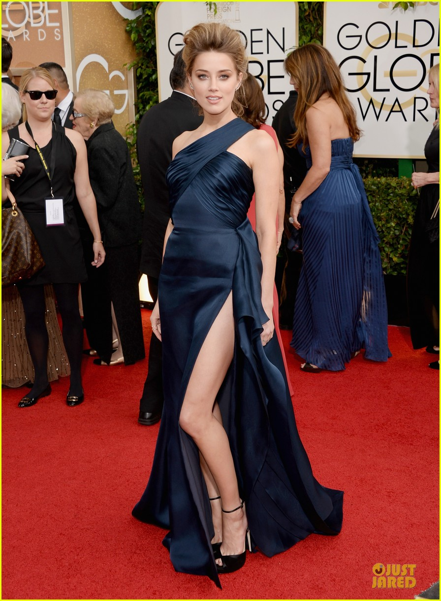amber heard golden globes 2014 red carpet 013029107