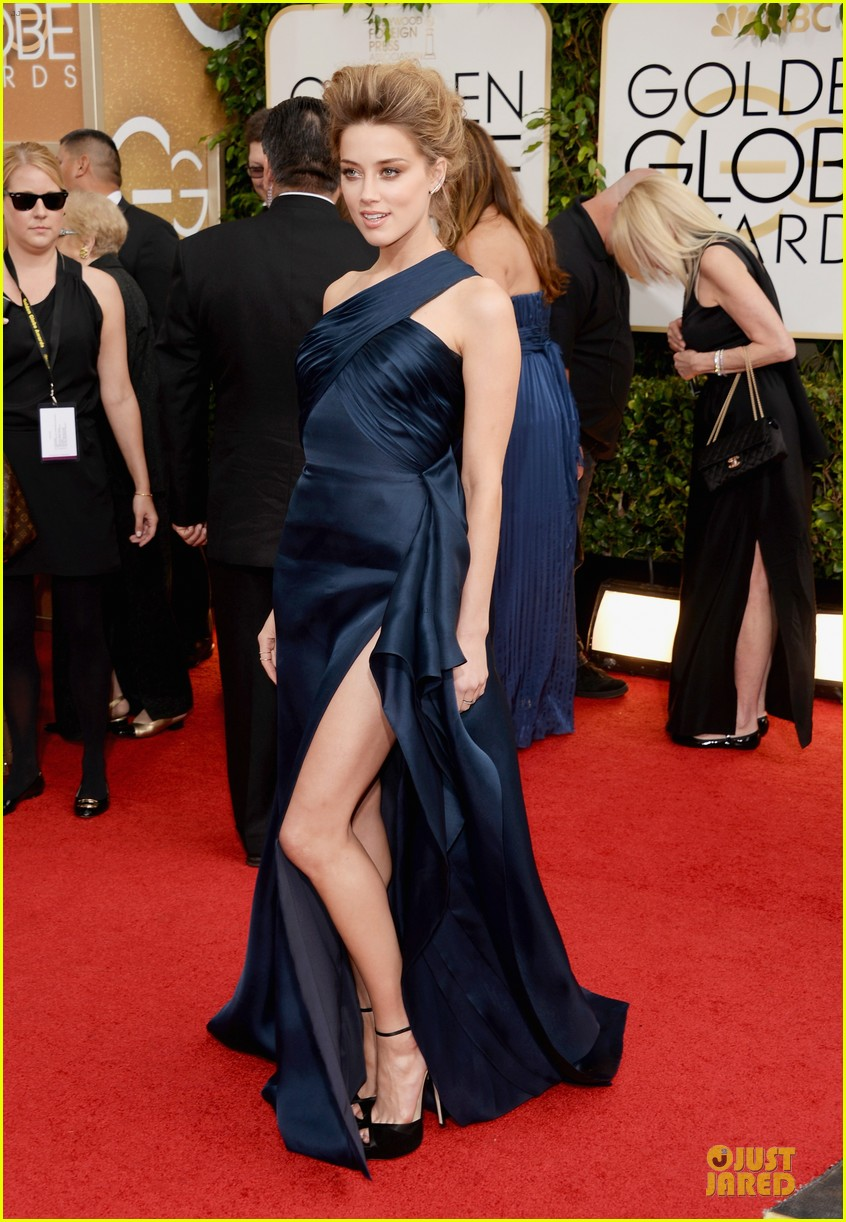 amber heard golden globes 2014 red carpet 09