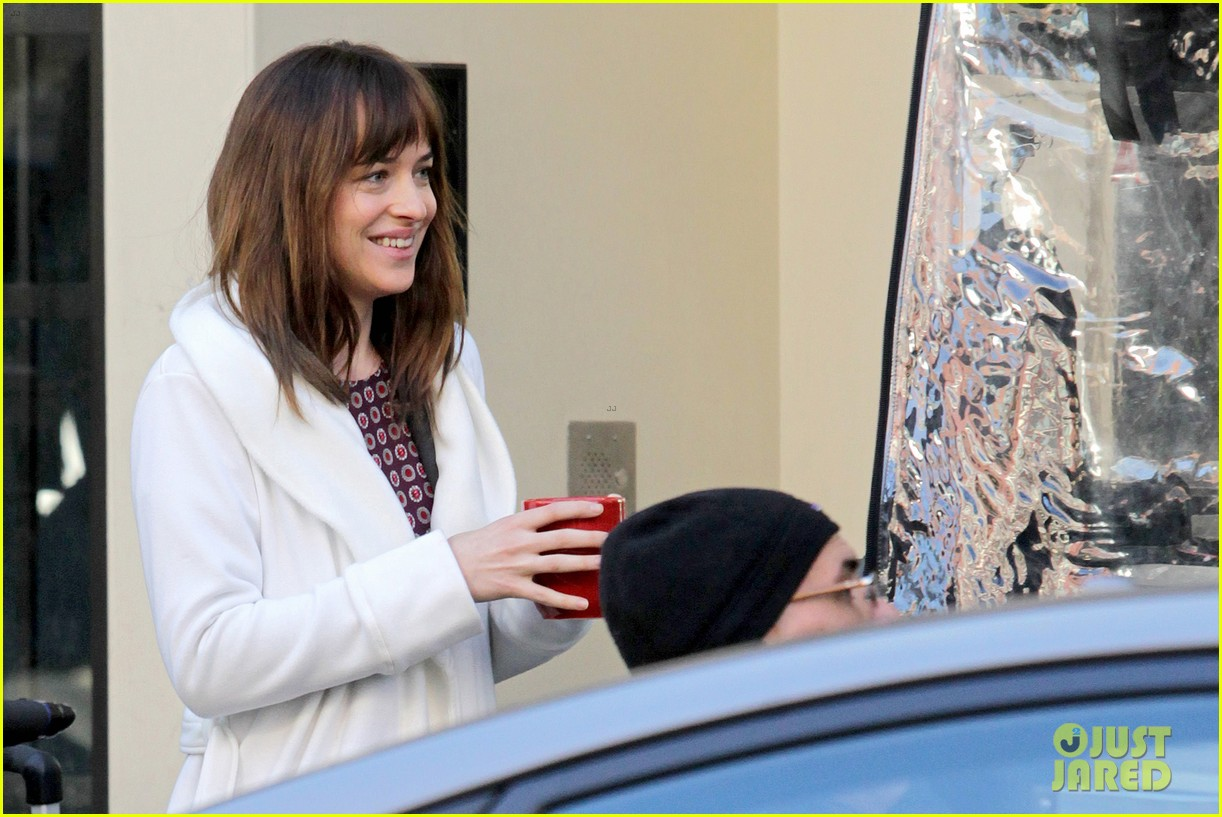 dakota johnson shoots fifty shades scenes with max martini 263033170