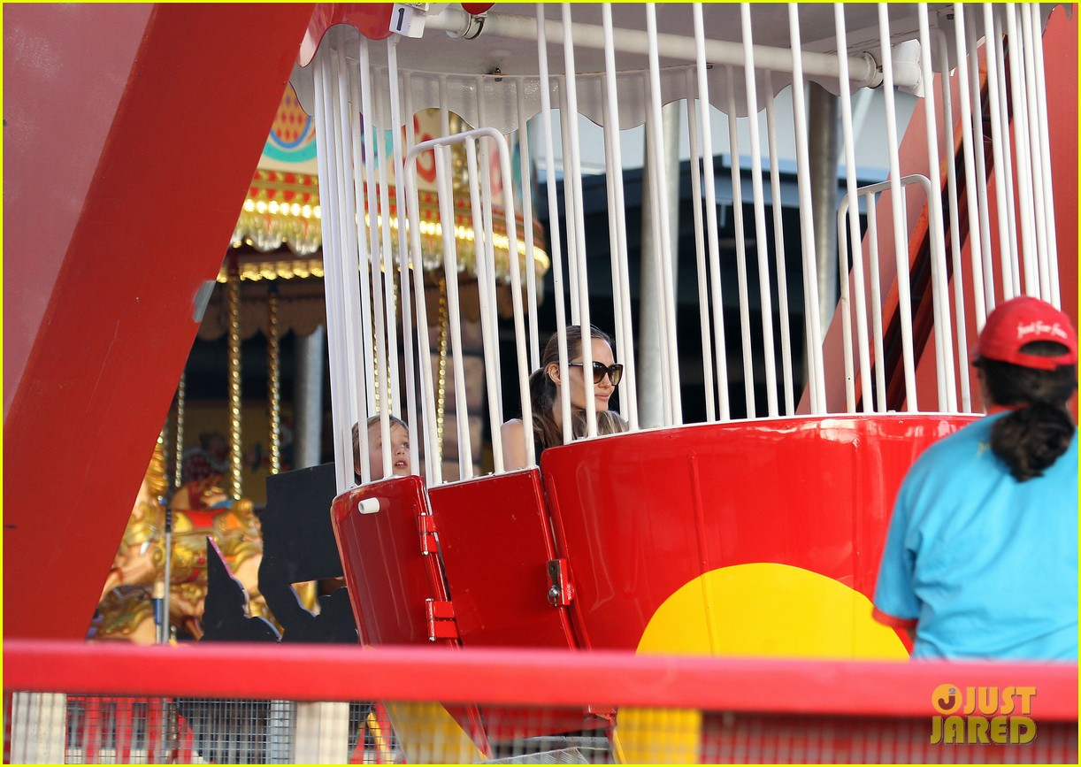 angelina jolie luna park fun with the kids 353024408