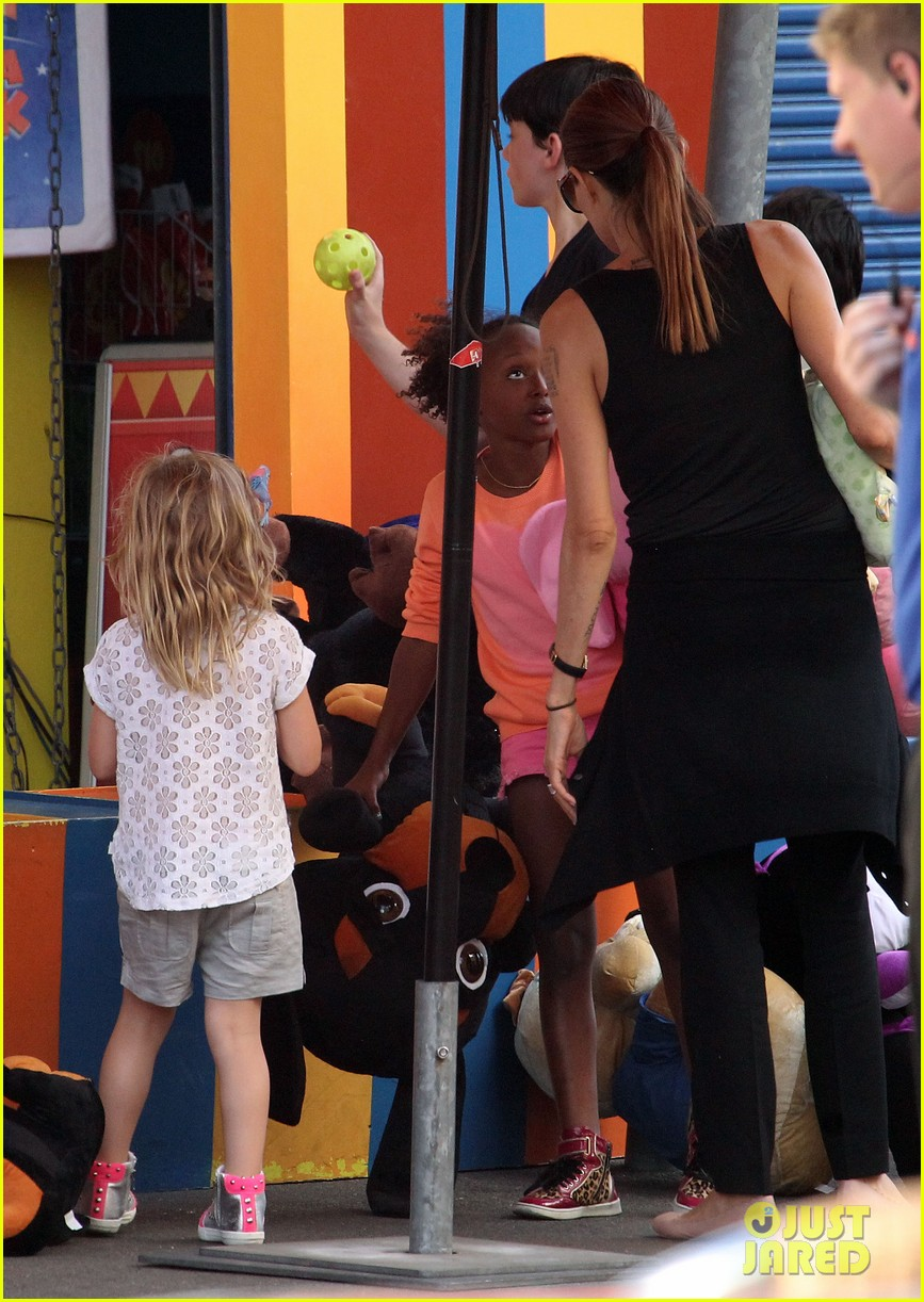 angelina jolie luna park fun with the kids 513024424